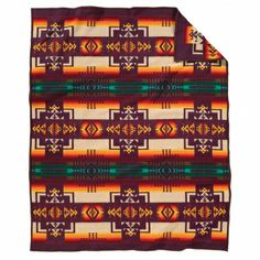 Pendleton Maroon Chief Joseph Blanket (Twin)