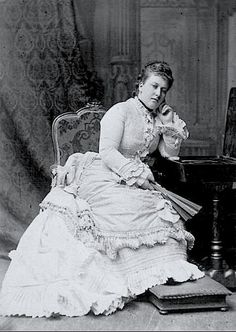 "Her Royal Highness Princess Christian of Schleswig-Holstein-Sonderburg-Augustenburg (1846-1923) née Her Royal Highness Princess Helena of Great Britain. ""Poor dear Lenchen,  though most useful and active and clever and amiable, does not improve in looks and has great difficulties with her figure and her want of calm quiet graceful manners."" ~Queen Victoria"