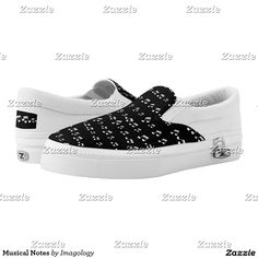 Musical Notes Printed Shoes