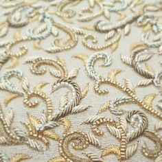 Grand Sewing Embroidery Designs At Home Ideas. Beauteous Finished Sewing Embroidery Designs At Home Ideas. Tambour Beading, Tambour Embroidery, Couture Embroidery, Embroidery Motifs, Indian Embroidery, Gold Embroidery, Embroidery Designs, Wedding Embroidery, Bordados Tambour
