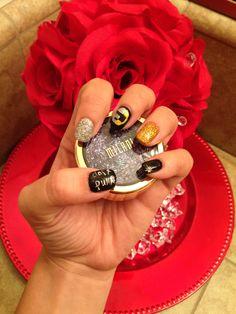 My amazing daft punk gel nails by my friend Liz