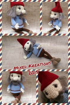 Gamorn the Gnome - pattern from cuteandcaboodle The House Gnome crochet pattern
