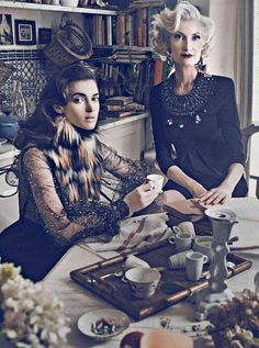 Glamorous Old Hollywood Shoots - The Vanity Fair France October Editorial Channels Grey Gardens (GALLERY)