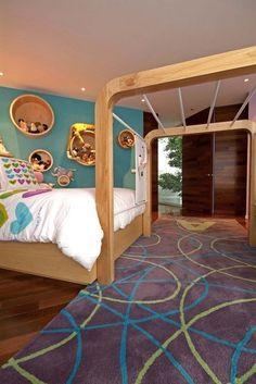 Unique Bed Design Ideas For Kids Bedroom - TopDesignIdeas Creative Kids Rooms, Deco Kids, Bunk Bed Designs, Jungle Gym, Kids Bunk Beds, Kids Room Design, Dream Rooms, Kid Spaces, Kids Bedroom