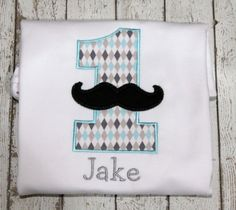 Boy's Mustache Birthday Shirt Perfect for a by thesimplyadorable, $24.00