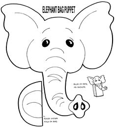 free muppet puppet patterns to print | Elephant Puppet from gwsjoeys.org.au