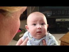 Baby makes it clear he's not a cat person - When his mom imitates a dog, this adorable, chubby-cheeked baby's face lights up. But watch what happens when she starts meowing.