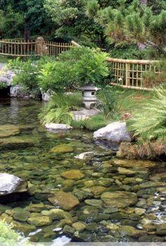 Feng Shui water garden.