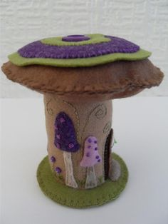 fairy house pincushion