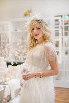 The trickling capelet from BHLDN as holiday party wear / via: the Glitter Guide