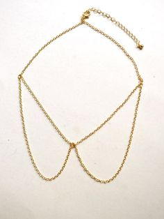 Peter Pan Collar Chain Necklace - $15