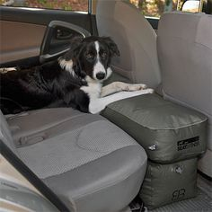 Dog Car Seat Extender / Inflatable Seat Extender -- Orvis. My mom & dad need this for Abby Labby.