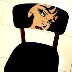 Arte pop na cadeira!