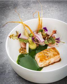 Irish salmon marinated with ponzu, wild garlic, pickled radishes & young vegetables. ✅ By - Restaurant Opus at Hotel @imperialvienna / By - @lukaskirchgasser_fotografie ✅ #ChefsOfInstagram