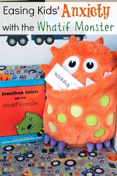 """What if Monster"" can eat up kids worries. Helps kids tackle worries and anxieties"
