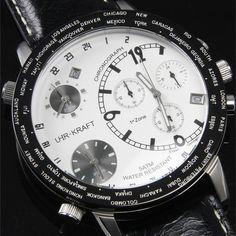 Uhr-Kraft Big World Triple Time Zone