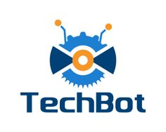 TechBot Logo design - This is a unique design logo of a technological robot, it is made up of tools used for technical and industrial use, its very different and attractive, creative design with blue and orange color theme. This design can be useful for engineering, robotics, industries and machines, tools and technological services. Price $250.00