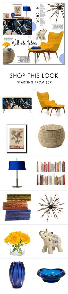 """""""walk into nature"""" by limass ❤ liked on Polyvore featuring interior, interiors, interior design, home, home decor, interior decorating, Tiffany & Co., Serena & Lily, Universal Lighting and Decor and Lux-Art Silks"""