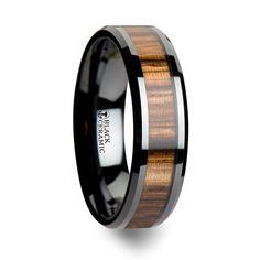 Men's wooden wedding rings