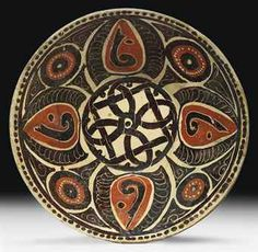 A NISHAPUR CONICAL POTTERY BOWL   NORTH EAST IRAN, 10TH CENTURY