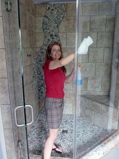 how to clean scum off shower window