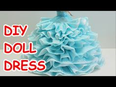 DIY Doll Dress: Bath Tissue Ribbon and Plastic Bottle - Recycled Bottles Crafts Sewing Barbie Clothes, Barbie Clothes Patterns, Doll Patterns, Doll Clothes, Soda Bottle Crafts, Recycled Bottle Crafts, Doll Crafts, Diy Doll, Fairy Clothes
