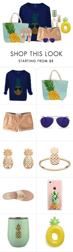 """Pineapple Themed Set!"" by annaewakefield ❤ liked on Polyvore featuring Jack Wills, Alexander McQueen, LC Lauren Conrad, Jack Rogers, The Casery, Clay Art, Big Mouth, lovepinapples and themedset"