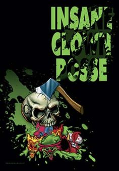 You're not a true fan without a poster. Show off this Insane Clown Posse Hatchet Skull Fabric Poster. 30 x 40