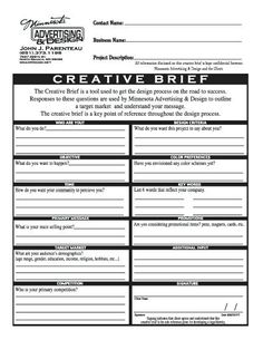 Image result for creative brief template pdf