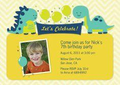Mixbook Dinomite Birthday Boys Birthday Party Invitations