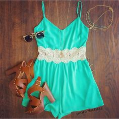 Cosima Romper in mint is seriously perfect for summer! ☀️ #ShopPriceless #OurFavorites www.ShopPriceless.com