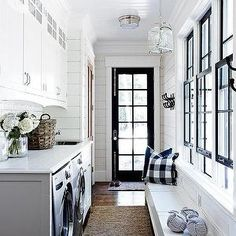 Long and Narrow Mudrooms, Cottage, laundry room, Style at Home