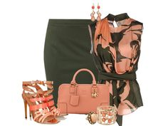 Lovely Brown & Peach Outfit. LOVE