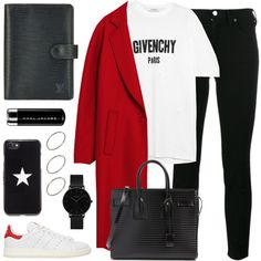 #284 by anadaily on Polyvore featuring polyvore, мода, style, Givenchy, Acne Studios, adidas Originals, Yves Saint Laurent, ASOS, CLUSE and Marc Jacobs