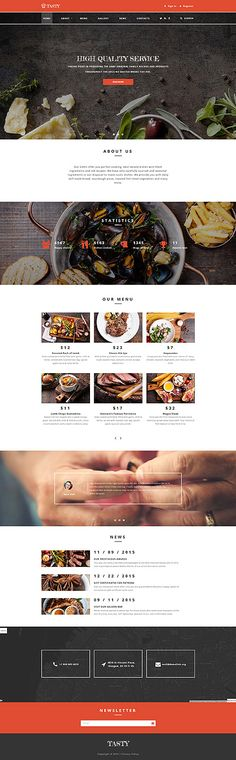 Template 58809 - Tasty Restaurant  Responsive Website Template