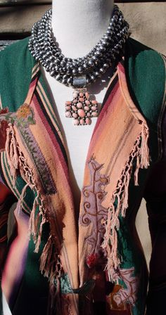 Rocki Gorman jewelry and Karen Wilkinson Serape Jacket ~ beautiful