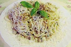 Spaghetti mit Knoblauch - Nuss - Soße (Rezept mit Bild) | Chefkoch.de
