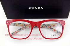 Brand New Prada Eyeglasses Frames 01NV abo Red | eBay