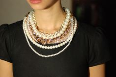 pearls necklace choker