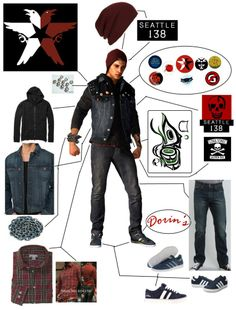 Delsin Rowe Outfit Broken Down New Organized by Linkmaster101 - Great for cosplaying Delsin
