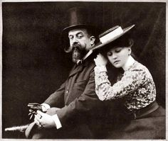 """Henry """"Willy"""" Gauthier-Villars and Sidonie-Gabrielle """"Colette"""", when they were married and was ghostwriting for him. Vintage Couples, 20th Century Fashion, People Of Interest, French Photographers, Madame, Belle Epoque, Vintage Pictures, Vintage Photography, Fashion History"""