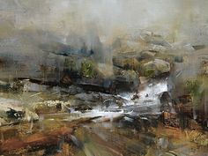 A Subtle Transition by Tibor Nagy Oil ~ 12 x 16 Love the looseness of the paint. Landscape Artwork, Contemporary Landscape, Abstract Landscape, Impressionist Landscape, Seascape Paintings, Oil Paintings, Waterfall Paintings, Traditional Paintings, Art Uk