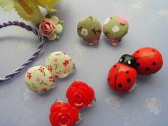 *Clips* Ohrclipse mit verschiedenen Muster von Happy Lilly auf DaWanda.com