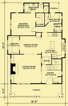 architectural house plans floor plan details classic bungalow 2 - Bungalow Floor Plans