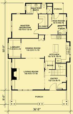 Architectural House Plans : Floor Plan Details : Classic Bungalow 2