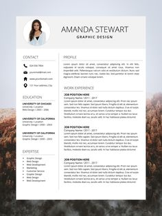 Resume Template | CV Template | Professional Resume | Resume Template Word | Simple Resume | Instant Download | Photo Teacher Resume Every Resume Template is fully editable, so you can easily modify and adapt it to your own needs ( change font, colors, headlines, sections, icon colors, etc. ) Our templates are professionally designed. We provide full support and advice our customers. Modern Resume Template, Creative Resume Templates, Cv Template, Cv Design, Resume Design, Microsoft Word 2007, Simple Resume, Cover Letter Template, Professional Resume