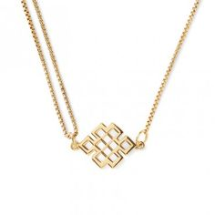 'Endless Knot Pull Chain Necklace - Front