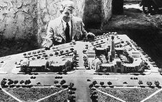 Will Rogers with a model of city of BH (BHHS) #LindaMayProperties #LiveYourLuxury #LindaMay.com
