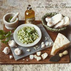Pasta al pesto #dollshouseminiatures #leminidiclaudia #dollhouseminiature #miniaturefood