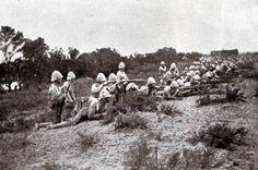 G Company Scots Guards at the Battle of Modder River November 1899 in the Boer War British Soldier, British Army, The Veldt, Royal Engineers, Crimean War, Old Farm Houses, Troops, Soldiers, British Colonial